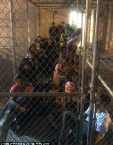 Initially, even members of Congress were not allowed to visit Obama's 'Dreamer' kennels, even in their own states. Later, DHS allowed legislators to visit but required them to make an appointment weeks in advance and ordered them not to bring cellphones or cameras. Congressman Henry Cuellar leaked this photo that he took secretly.